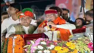Shri JP Naddas roadshow in Gurugram Haryana