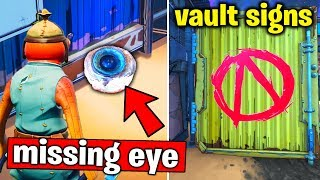 Search different VAULT SYMBOLS & Find CLAPTRAP'S MISSING EYE and then Return it to him (Fortnite)