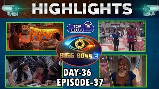 Bigg Boss Telugu 3 Day 36  Episode 37 Highlights | Bigg Boss Telugu 3 Latest News |  Top Telugu TV