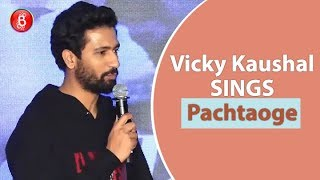 Vicky Kaushal SINGS Lines From Chartbuster Song 'Pachtaoge'