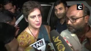 Priyanka Gandhi meets kin of Ram Avtar who allegedly died in police custody in UP