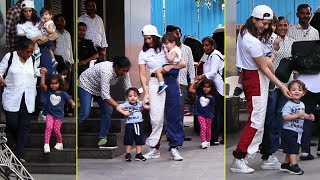 Sunny Leone Along With Her Kids Snapped At Play School Fusion Juhu