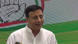 BJP Minister is trying to politicize the united stand on J&K: Randeep Surjewala addresses media