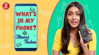 Mrunal Thakur Opens Up About Kushal Tandon Being Her Good Friend | What's In My Phone?