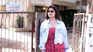 Beautiful Shamita Shetty Spotted At Kromakay Salon Juhu