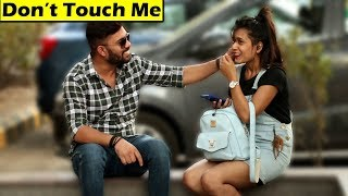 Pulling Cute Girls Cheeks Prank | Unglibaaz