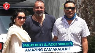 Sanjay Dutt & Jackie Shroff's AMAZING Camaraderie During Prassthanam Promotions