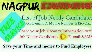 NAGPUR   EMPLOYEE SUPPLY   ! Post your Job Vacancy ! Recruitment Advertisement ! Job Information 128