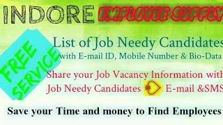 INDORE    EMPLOYEE SUPPLY   ! Post your Job Vacancy ! Recruitment Advertisement ! Job Information 12