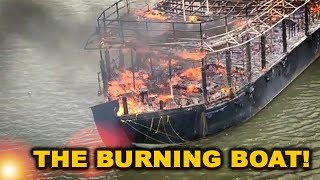 Houseboat harbours inferno on serene Chapora River!