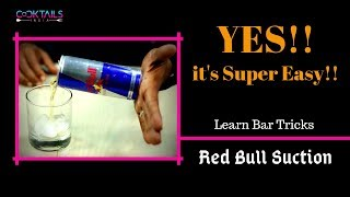 Easy Bar Tricks RED BULL SUCTION In Hindi | Bar Tricks in Hindi | Learn Bartending | Dada Bartender
