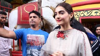 Sonam Kapoor Visits The Shani Temple For Her Upcoming Movie The Zoya Factor