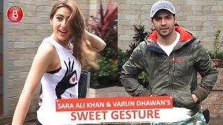 Coolie No. 1 So-Stars Sara Ali Khan & Varun Dhawan's Sweet Gesture For Selfie-Seeking Fans