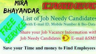 MIRA BHAYANDAR   EMPLOYEE SUPPLY   ! Post your Job Vacancy ! Recruitment Advertisement ! Job Informa