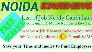 NOIDA    EMPLOYEE SUPPLY   ! Post your Job Vacancy ! Recruitment Advertisement ! Job Information 128