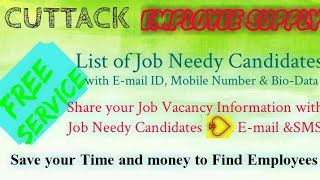CUTTACK    EMPLOYEE SUPPLY   ! Post your Job Vacancy ! Recruitment Advertisement ! Job Information 1