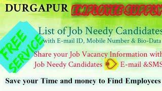 DURGAPUR   EMPLOYEE SUPPLY   ! Post your Job Vacancy ! Recruitment Advertisement ! Job Information 1