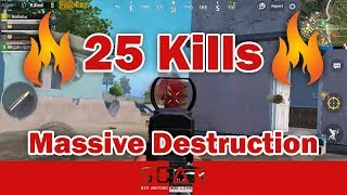 25 Kills in PUBG Mobile - Massive Destruction with Chicken Dinner feat. SCAR SLAYER ????????