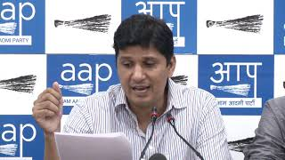 AAP Chief Spokesperson Saurabh Bharadwaj Addressed Media on SDMC Audit Report