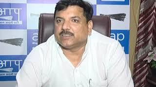 AAP Rajya Sabha Member Sanjay Singh will Meet BJP Leader Vijay Goel Tomorrow at 11AM