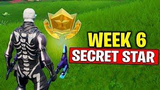 WEEK 6 SECRET BATTLE STAR LOCATION! Fortnite Season 10 - Secret Battle Star Week 6