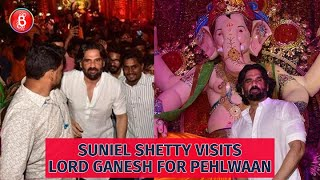 Suniel Shetty Takes Blessings From Lord Ganesh For Pehlwaan