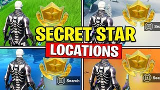 ALL SECRET BATTLE STARS Season 10 - Fortnite Week 1 to Week 6 Locations (SEASON X)