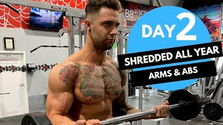 ARMS and ABS workout to look SHREDDED! Day-2 (Hindi / Punjabi)