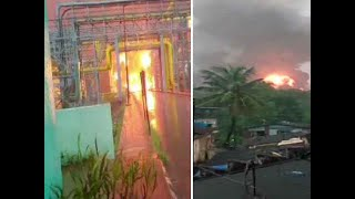 Massive fire breaks out at ONGC plant in Navi Mumbai