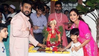 Shilpa Shetty With Family At Ganpati Visarjan 2019 | Shamita Shetty, Raj Kundra - Watch Video