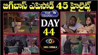 Bigg Boss Telugu 3 Highlights Episode 45  Day 44   Bigg Boss Telugu 3 Latest Update   Top Telugu TV