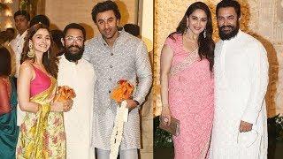 Aamir Khan In Lal Singh Chaddha Look At Ambani's Ganpati Pooja