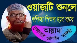 Bangla Waz Allama Delwar Hossain Saidy | Saidy Waz Mahfil Bangla | Islamic Mahfil Allama Saidy