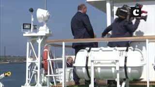PM Modi, President Vladimir Putin arrive at Zvezda ship-building plant