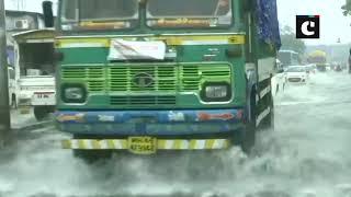 Water logging in Kurla following heavy rainfall in Mumbai