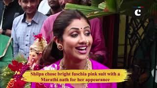 Shilpa Shetty bids adieu to Ganpati Bappa, dances with family