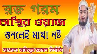 Bangla Waz Mahfil | রক্ত গরম অস্থির ওয়াজ । সেরা বক্তা মাওলানা হাফিজুর রহমান সিদ্দীকি । Islamic BD