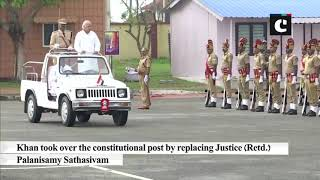 Kerala Governor Arif Mohd Khan receives Guard of Honour in Thiruvananthapuram
