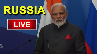 PM Modi LIVE | Naredra Modi Press Meet in Russia | President Putin of Russia | BJP | Top Telugu TV