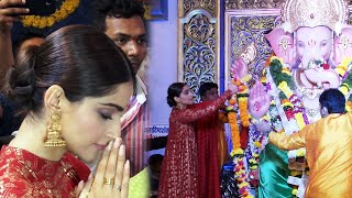 Sonam Kapoor Visit At Andheri Cha Raja - Full Video