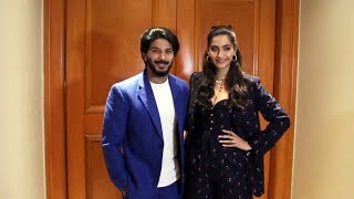 Sonam kapoor With Dulquer Salmaan Promoting Their Film The Zoya Factor