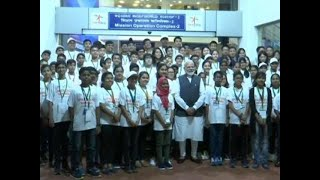 PM Narendra Modi interacted with children at ISRO