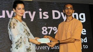 Kangana Ranaut DONATES Rs.42,00,000 Lacs To Isha Foundation For Cauvery Calling Campaign