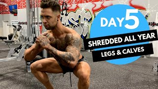 Day-5: Shredded Fat Loss LEG and CALVES Workout! (Hindi / Punjabi)