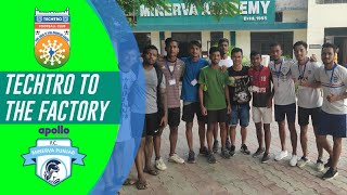 TECHTRO FC TO THE FACTORY || Techtro FC Exposure Tour To Minerva Punjab FC || Vlog 1