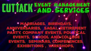 CUTTACK Event Management | Catering Services | Stage Decoration Ideas | Wedding arrangements |