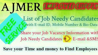 AJMER   EMPLOYEE SUPPLY   ! Post your Job Vacancy ! Recruitment Advertisement ! Job Information 1280