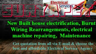 SURYAPET   Electrical Services |Home Service by Electricians | New Built House electrification |