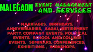 MALEGAON Event Management | Catering Services | Stage Decoration Ideas | Wedding arrangements |
