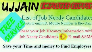 UJJAIN   EMPLOYEE SUPPLY   ! Post your Job Vacancy ! Recruitment Advertisement ! Job Information 128